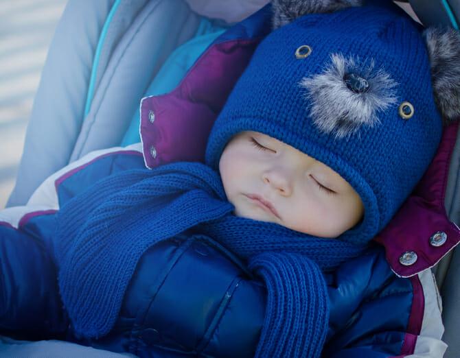 Sleeping beautiful baby boy