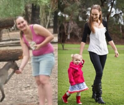 Rachelle Loses 28kg of Pregnancy Weight