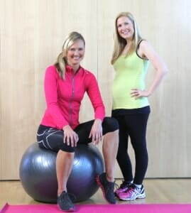 Rhian and Sol post pregnancy exercise
