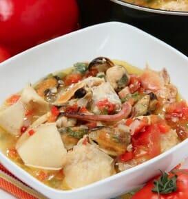Capsicum and Fish Stew