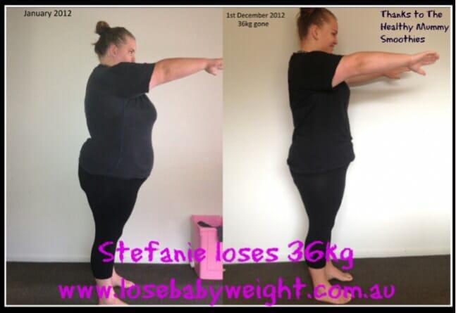Stefanie 36kg weight loss
