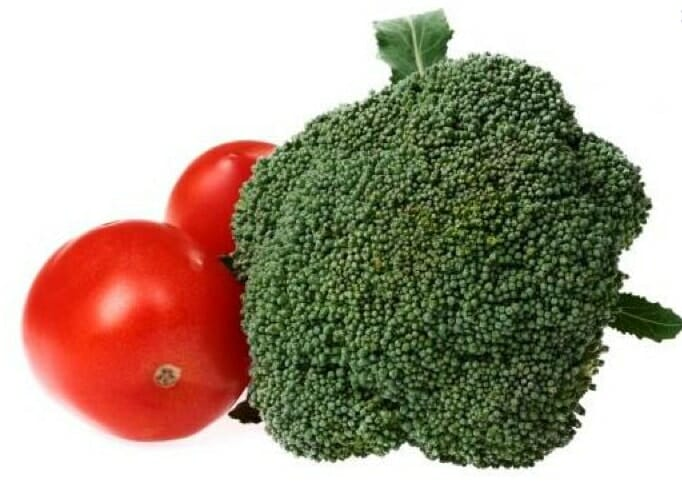 tomato and broccoli