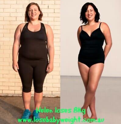 helen 8kg weight loss