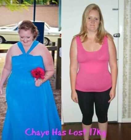 Chaye Lost 17kg
