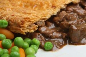 beef and mushroom filo pie