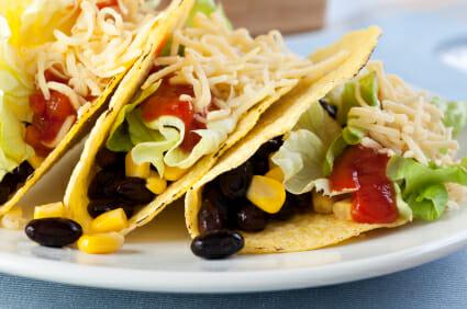 Vegetairan tacos