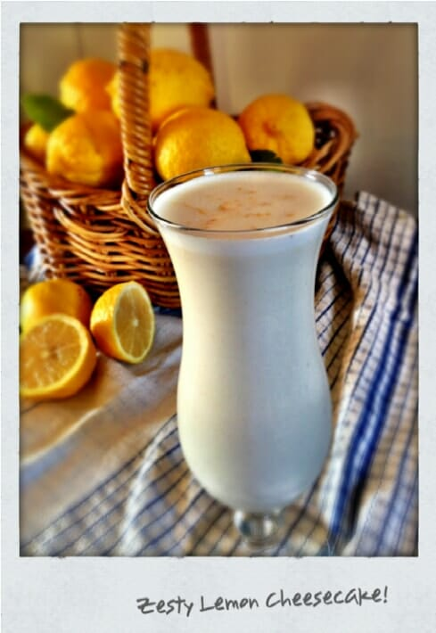 Zesty lemon and cheesecake smoothie