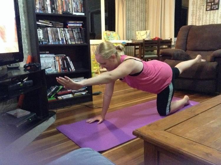 Chaye exercising