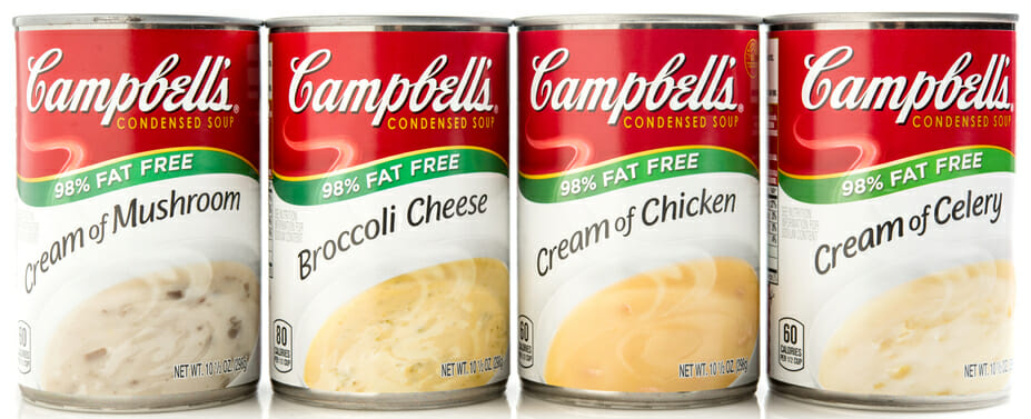 Assorted Campbell's Condensed Cream Soups