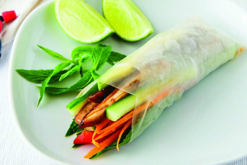 Healthy Vietnamese Rice Paper Rolls