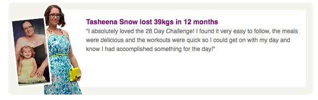 28 day challenge tasheena