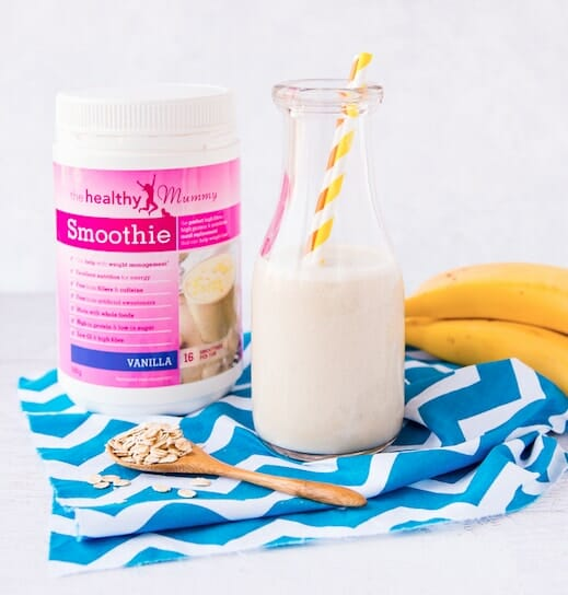 Banana Oats and Vanilla Smoothie
