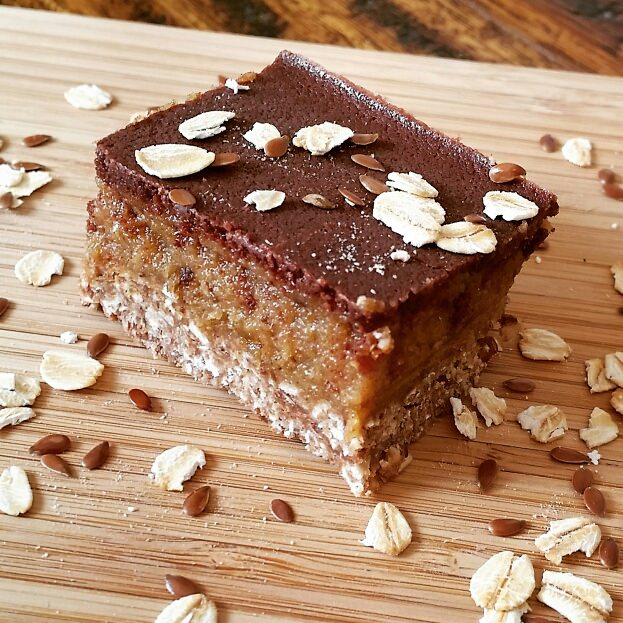 Milk Boosting Caramel Slice