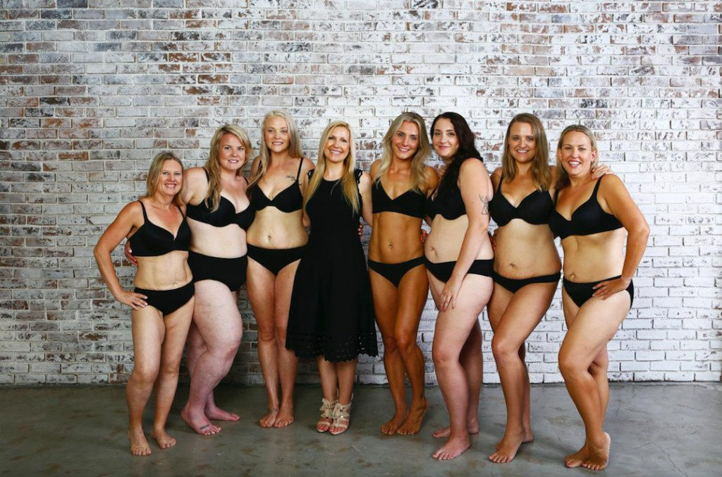 Rhian and mums at underwear photoshoot
