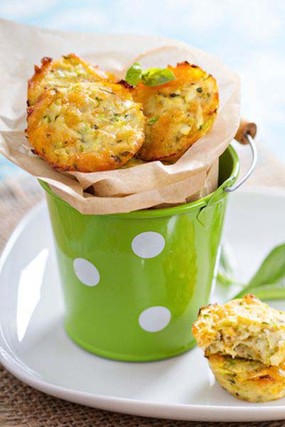 Healthy cheese and zucchini bites - only 39 calories