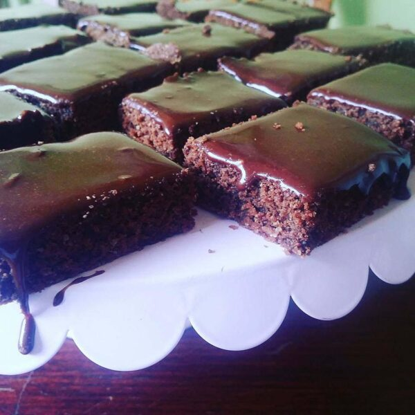 Healthy chocolatey Coco2 slice
