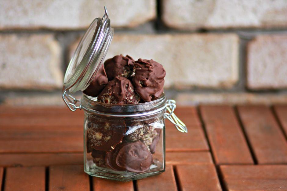 Deliciously indulgent healthy Ferrero Rocher balls