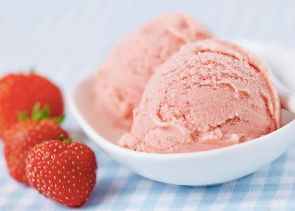 Strawberry & Coconut Ice Cream