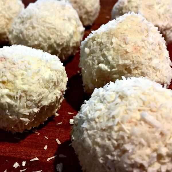 Lemon and coconut bliss balls