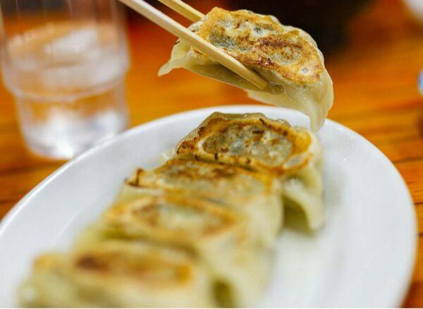 Healthy chicken and lemongrass potsticker dumplings