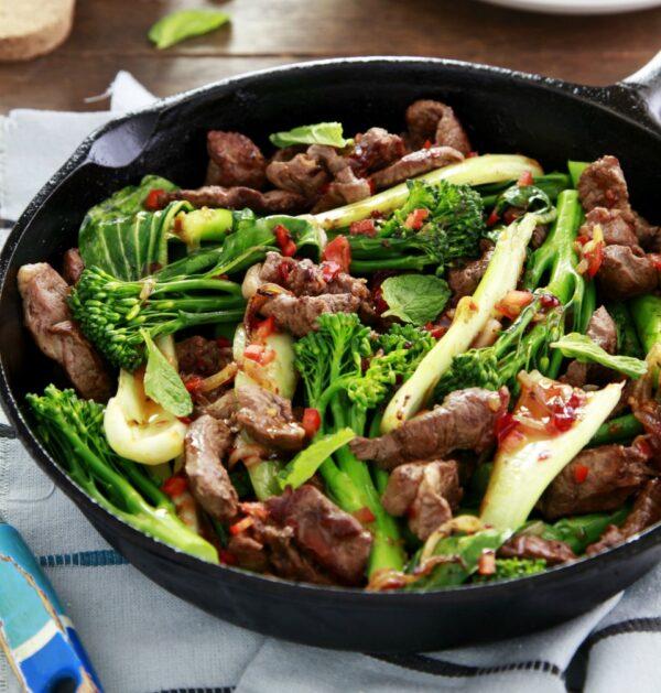 One Pot Teriyaki Lamb Stir Fry