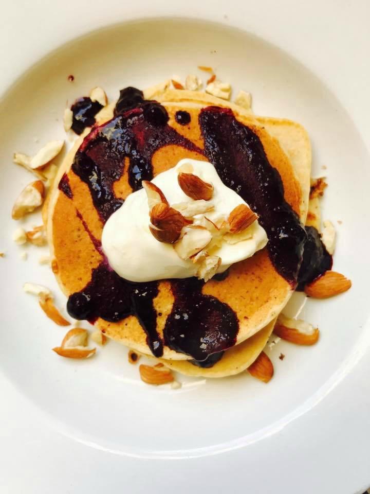 Blueberry & vanilla pancakes