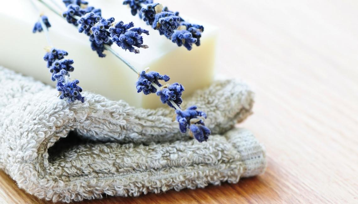 beauty slider - lavender soap