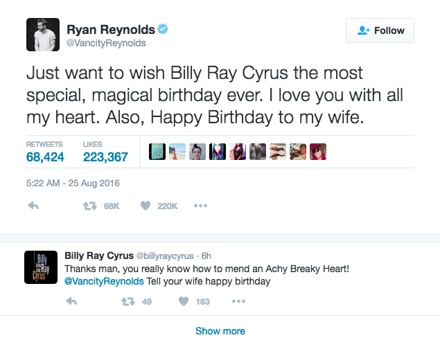 ryan reynolds tweets wife happy birthday