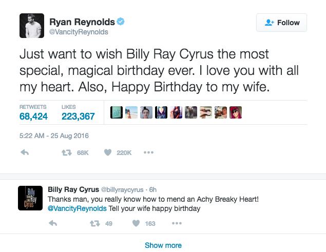 ryan reynolds tweets wife happy birthday