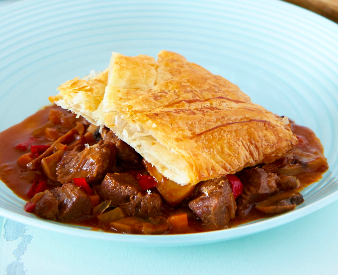 Steak, Thyme and Mushroom Pie