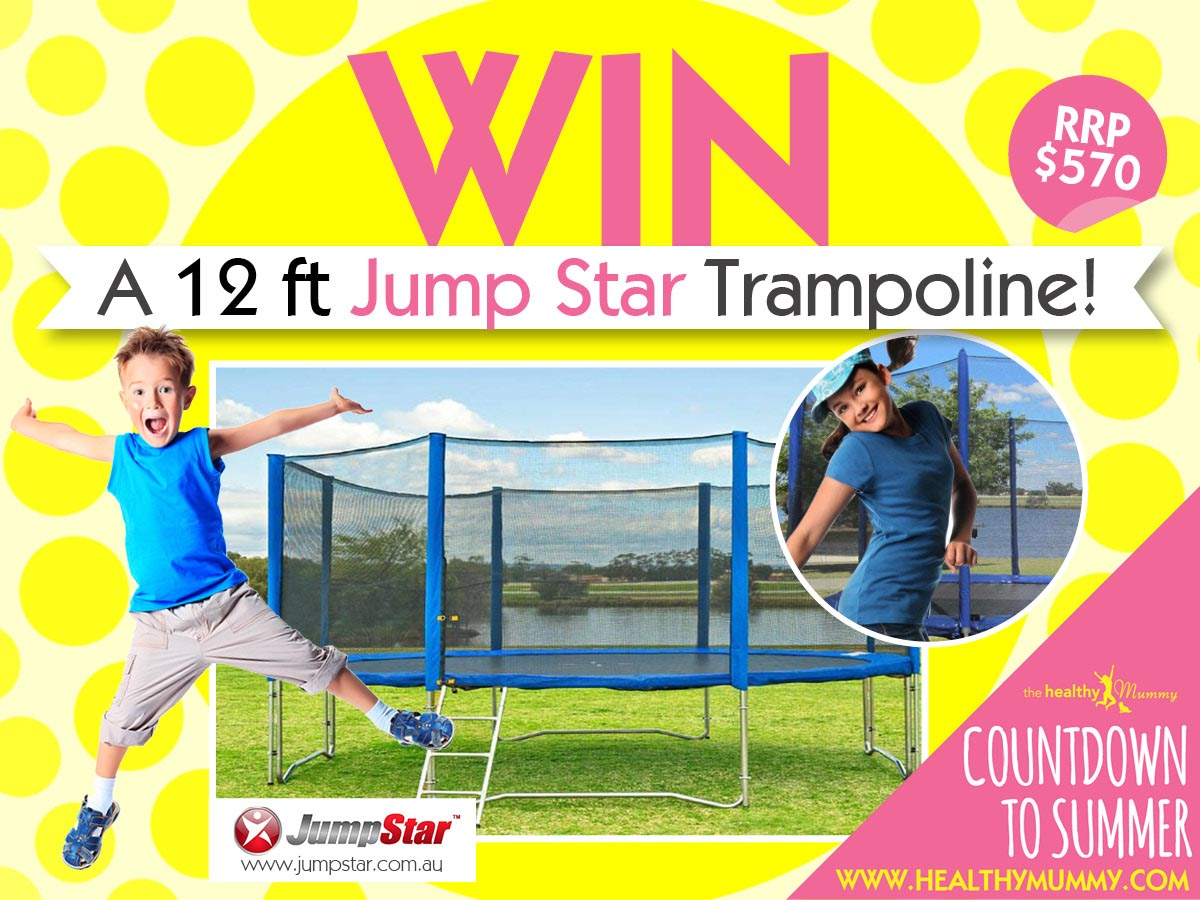 win a jumpstar 12ft trampoline competition. Black Bedroom Furniture Sets. Home Design Ideas