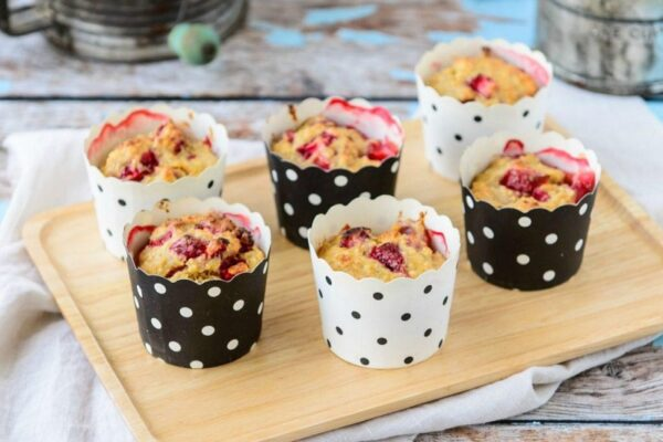 Banana, berry & yoghurt breakfast muffins the kids will love