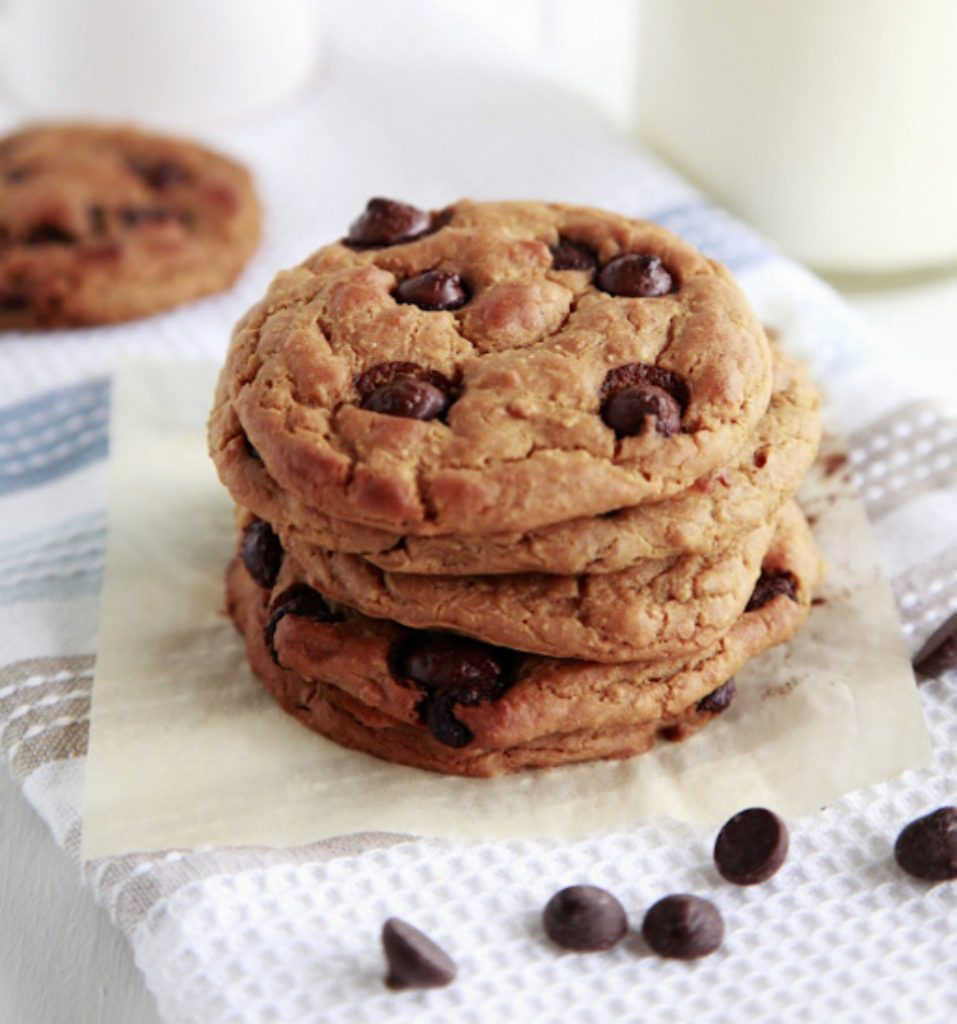 chocolate chip chickpea protein packed cookies. Black Bedroom Furniture Sets. Home Design Ideas