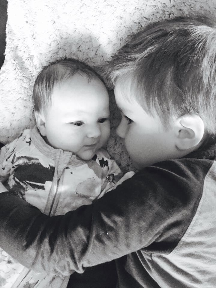 Sibling love boy and baby brother F Miller
