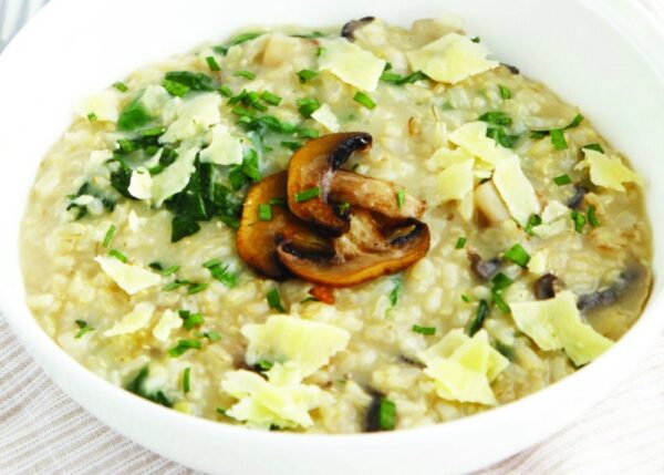 Deliciously healthy mushroom risotto