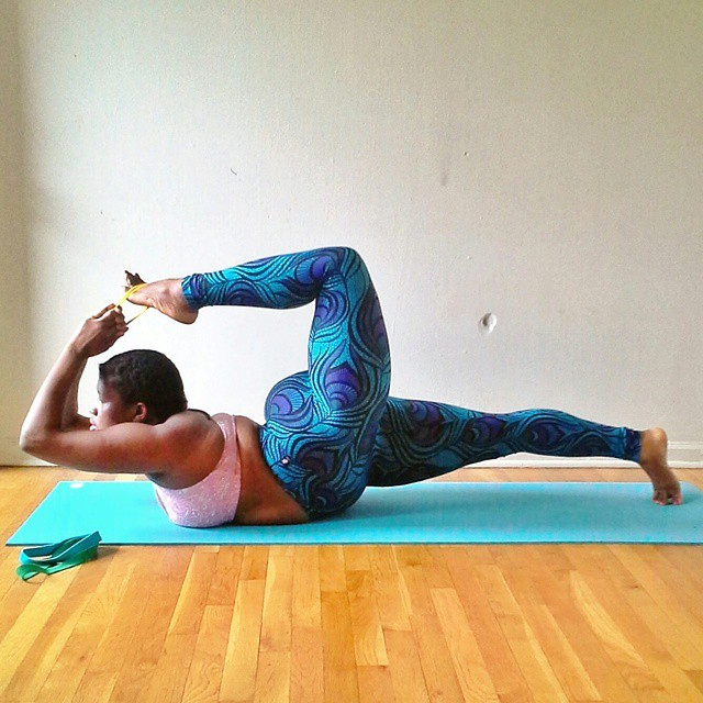 Jessamyn Stanley plus sized yogi complicated poses