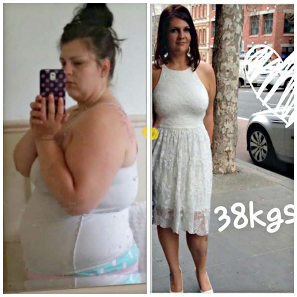 Krystle  weight loss results