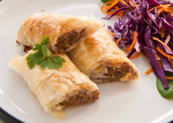 Delicious and healthy Thai style sausage rolls