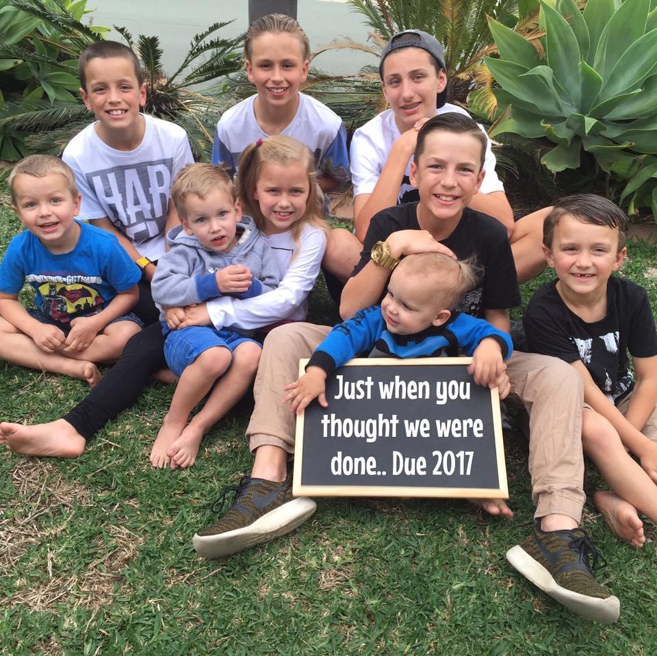 big family ten kids Conroy