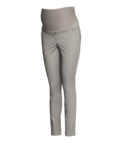 52eae429fdc These chino pants from H M are the perfect neutral colour to add to your  wardrobe. They have a slight stretch and a super comfortable over belly  waist band.