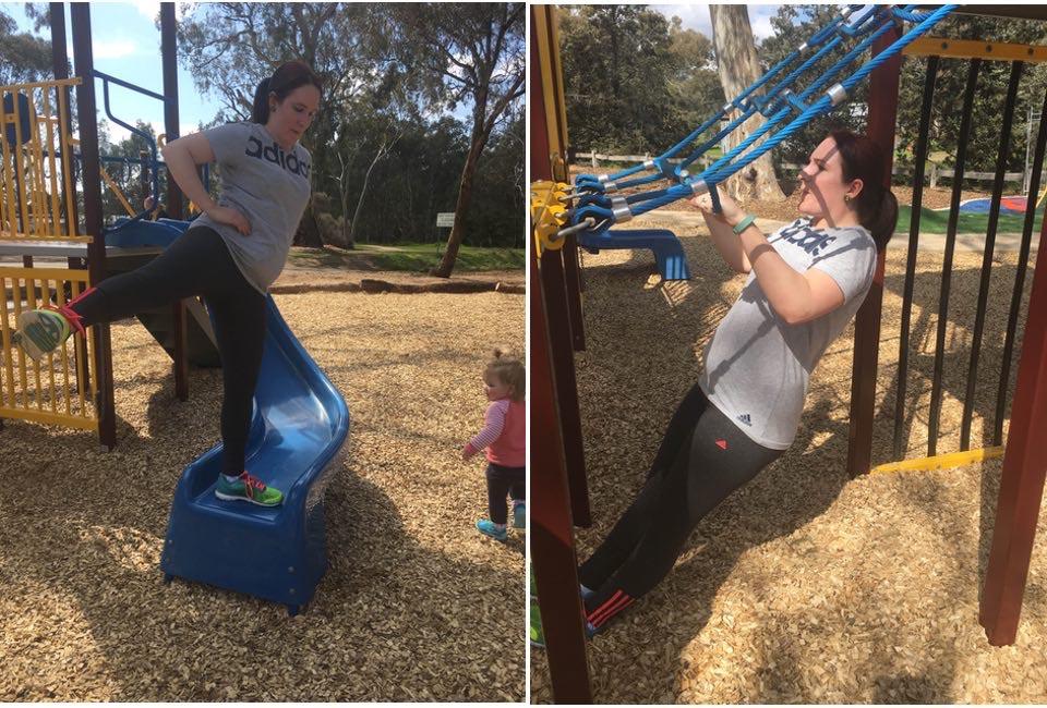 mummy playground workout to lose weight