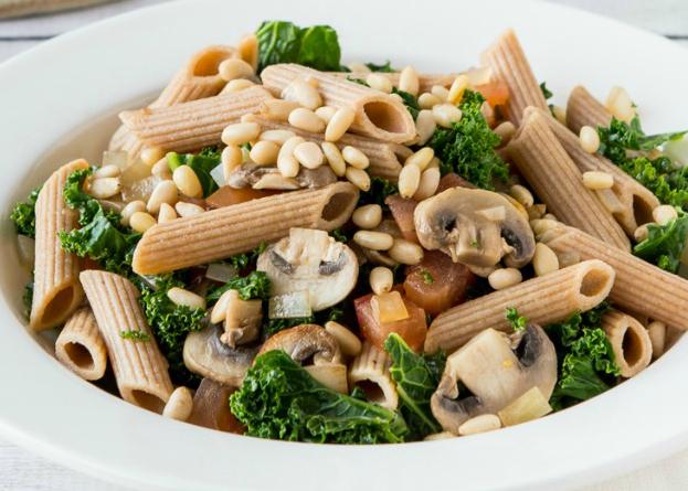Video Recipe Mushroom Kale And Pine Nut Healthy Pasta