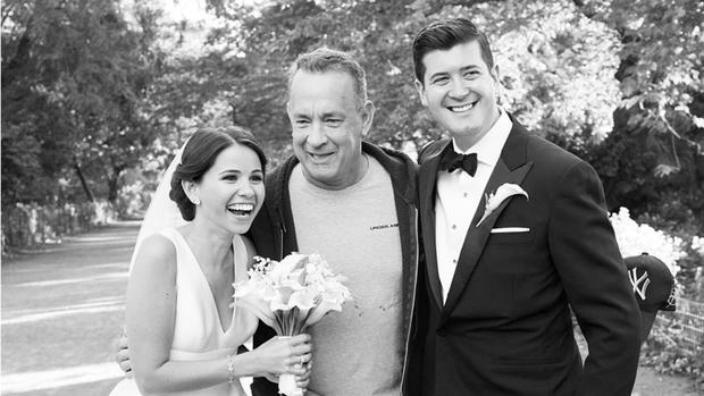 Tom Hanks wedding photobomb
