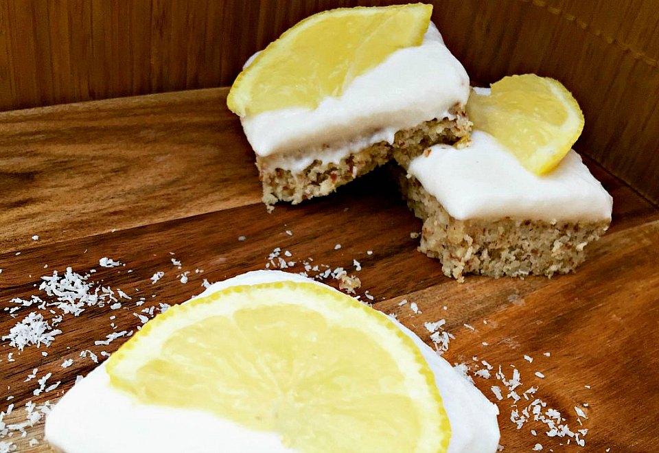 Healthy Lemon And Coconut Slice
