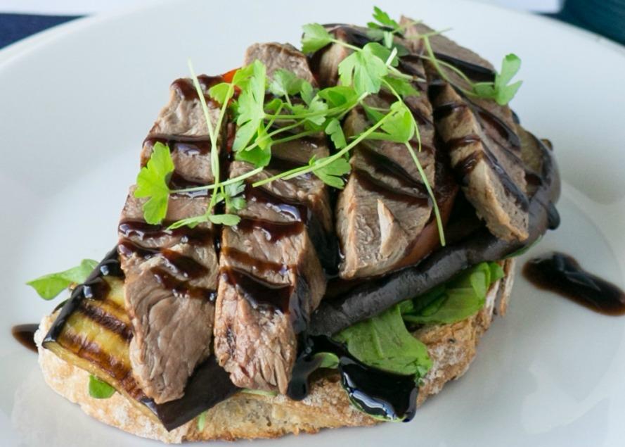 Open Steak Sandwich