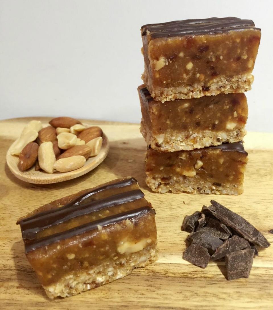 Peanut Caramel Slice