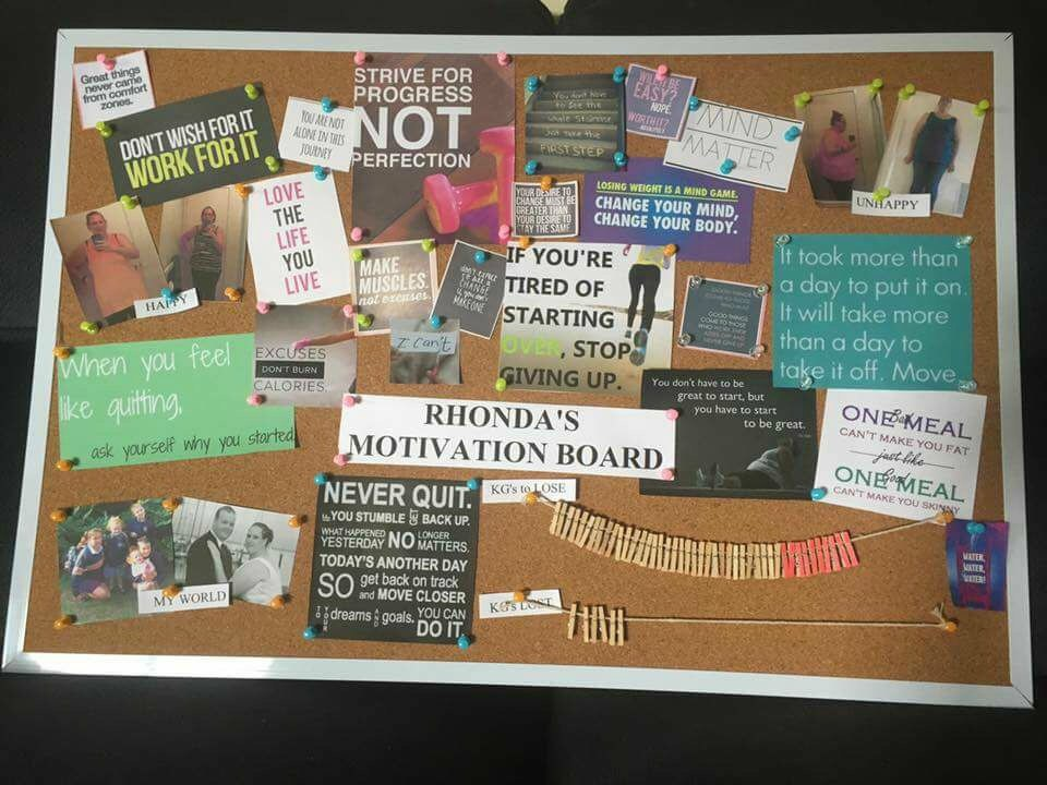 Rhonda Thredgold motivation board