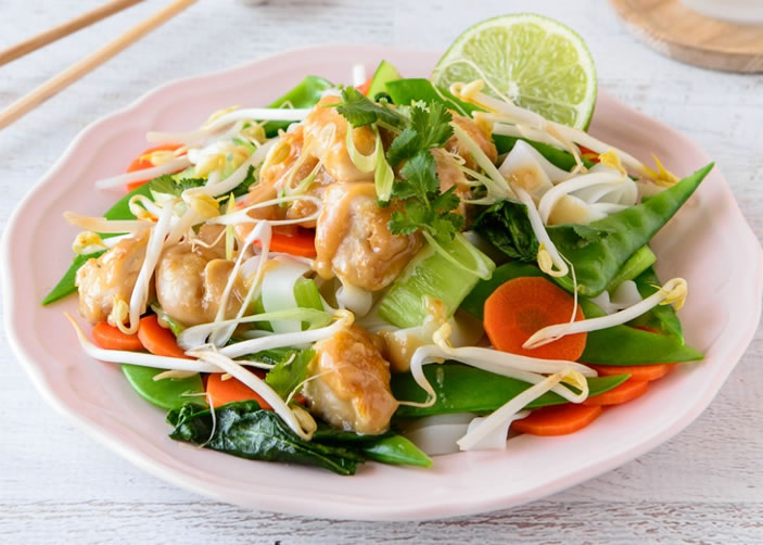 Satay Chicken Noodles