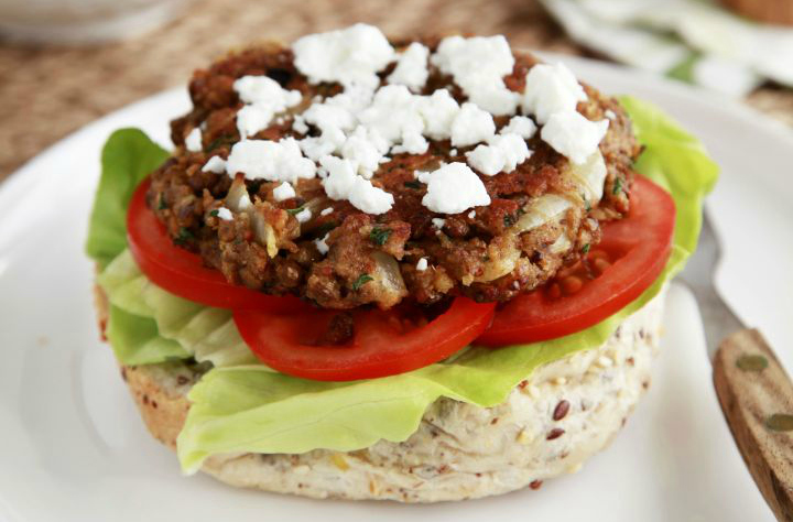 Healthy and budget-friendly lentil burger patties