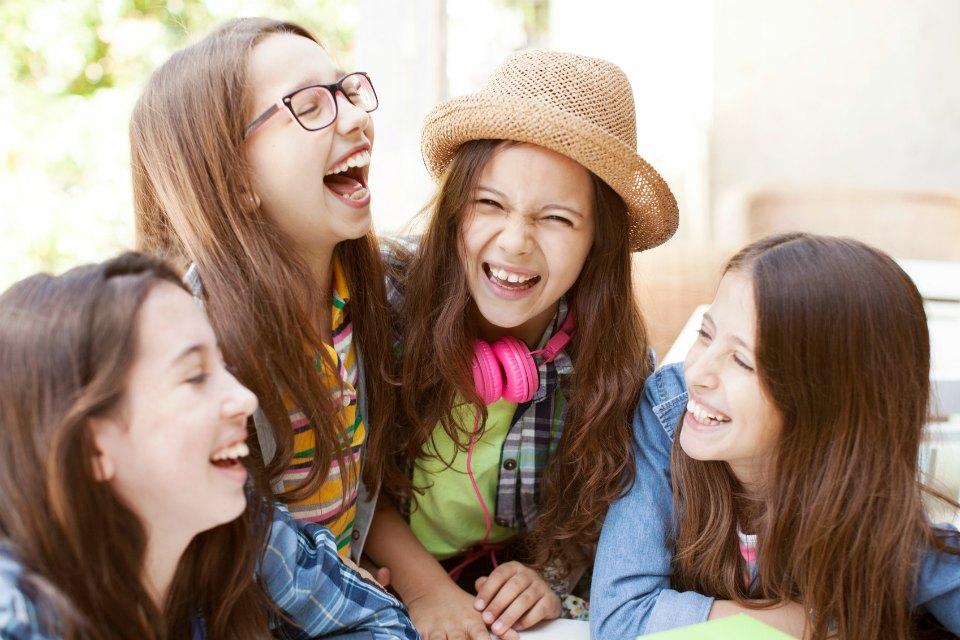 group of tween girls